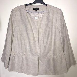 NWT Talbots lined linen plus blazer / jacket